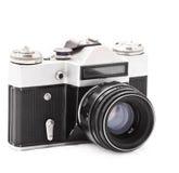 Oude fotocamera Stock Afbeeldingen