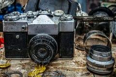Oude fotocamera 10 royalty-vrije stock afbeelding