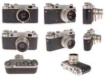 Oude fotocamera in positie acht Stock Afbeeldingen