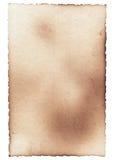 Oude fotodocument textuur met vlekken, krassen en gebrande randen Royalty-vrije Stock Afbeelding