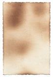 Oude fotodocument textuur met vlekken, krassen en gebrande randen Royalty-vrije Stock Afbeeldingen