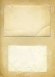 Oude fotodocument textuurachtergrond Royalty-vrije Stock Foto's