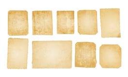 Oude fotodocumenten Stock Afbeeldingen