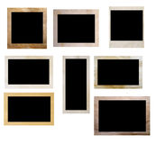 Oude fotoframes Stock Afbeeldingen