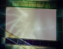 Oude fotografiefilm Stock Afbeeldingen