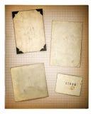 Oude fotokaders en mathe boekpagina Oud Document Royalty-vrije Stock Afbeeldingen