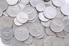 Oude Franse muntstukFrank royalty-vrije stock afbeelding