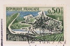 Oude Franse postzegel royalty-vrije stock foto