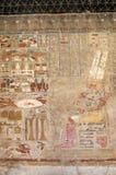 Oude fresko van farao Stock Afbeelding