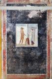 Oude fresko van Hercules in het huis van Pompei royalty-vrije stock fotografie