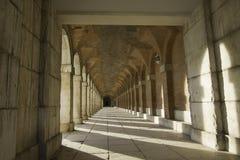 Oude gang van Royal Palace in Aranjuez Stock Afbeelding
