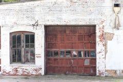 Oude garage Stock Foto