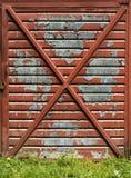Oude garagedeur royalty-vrije stock afbeelding