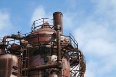 Oude Gasfabrieken in Seattle Washington royalty-vrije stock afbeeldingen