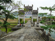 Oude gateway in yunnan heshunstad, China Royalty-vrije Stock Afbeelding