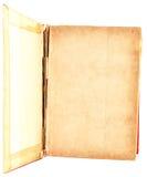 Oude geïsoleerd boek open Stock Afbeeldingen