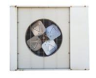 Oude geïsoleerde luchtcompressor Stock Foto
