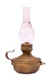 Oude geïsoleerde orkaanlamp Royalty-vrije Stock Foto's