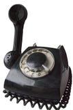 Oude geïsoleerde schijftelefoon Royalty-vrije Stock Afbeeldingen