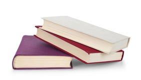 Oude geïsoleerdei boeken Stock Afbeeldingen