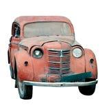 Oude geïsoleerdeo auto Stock Afbeeldingen
