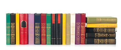 Oude geïsoleerdeo boeken Stock Afbeelding