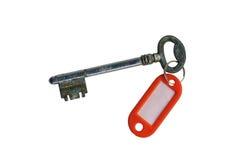 Oude geïsoleerder sleutel Stock Foto's