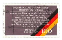 Oude geannuleerde Duitse zegel met vlag Royalty-vrije Stock Fotografie