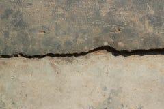 Oude gebarsten de textuurachtergrond van de cementvloer Royalty-vrije Stock Afbeeldingen