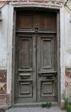 Oude gebarsten deur Stock Foto's