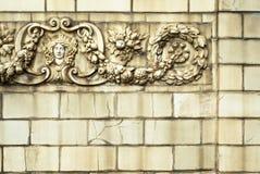 Oude gebarsten keramische tegels Gebarsten keramische tegeltextuur, oppervlakte stock foto's