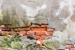 Oude gebarsten muur Royalty-vrije Stock Foto's