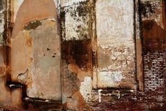Oude gebarsten muurtextuur Stock Foto