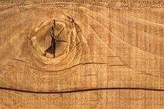 Oude Gebarsten Ruwe Geweven White Pine-Plank met Knoop Royalty-vrije Stock Afbeelding