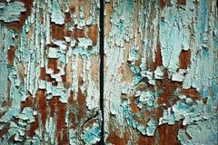 Oude gebarsten verf op houten muur royalty-vrije stock fotografie