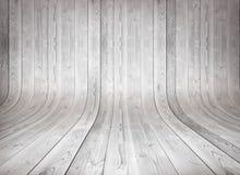 Oude gebogen houten achtergrond Stock Afbeeldingen