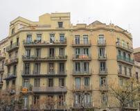 Oude gebouwen Barcelona Stock Afbeelding