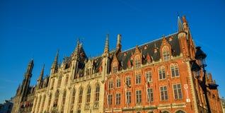 Oude gebouwen in Brugge, België stock afbeelding