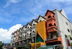 Oude gebouwen in Chiang Mai, Thailand Stock Foto's