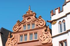 Oude gebouwen in de oude stad van Trier, Duitsland Royalty-vrije Stock Fotografie