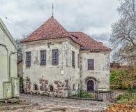 Oude gebouwen in de Oude Stad van Vyborg Royalty-vrije Stock Foto