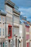 Oude gebouwen in de Stad van Quebec Stock Foto