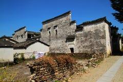 Oude gebouwen, een Hui, China Stock Afbeelding