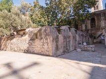 Oude gebouwen in een Koptisch deel van het complex van de Basiliek o Stock Foto's