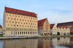 Oude gebouwen in Gdansk royalty-vrije stock afbeelding