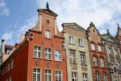 Oude gebouwen in Gdansk, Polen stock foto's