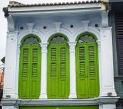 Oude gebouwen in Georgetown in Penang, Maleisië royalty-vrije stock fotografie
