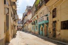Oude gebouwen in Havana, Cuba Royalty-vrije Stock Afbeeldingen