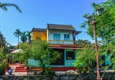 Oude gebouwen in Hoi An, Vietnam stock afbeeldingen