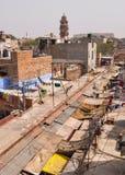 Oude gebouwen in Jodhpur, India Royalty-vrije Stock Foto's
